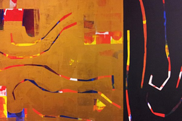 'Border', L 80 x B 60, Acryl, 2014