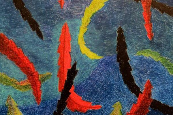 'Herfst II', L 35 x B 50, Kleurpotlood, 2016