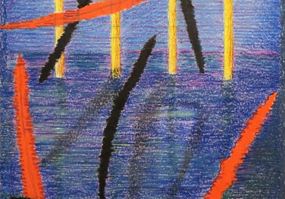 'Herfst I', L 35 x B 50, Kleurpotlood, 2016