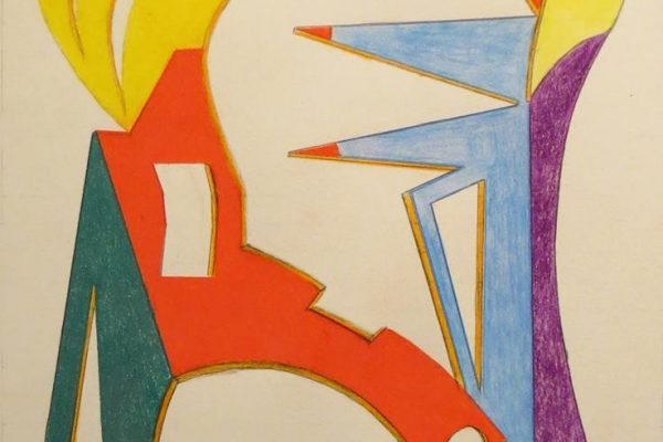 'Verlangen', L 35 x B 50, Kleurpotlood, 2016