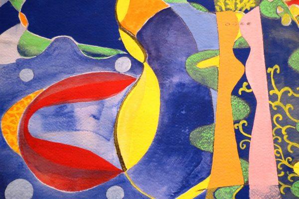 'Dichtbij IV', L 36 x B 26,5, Acryl op papier, 2014