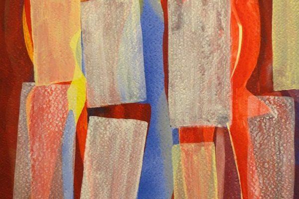 'Jij', L 26,5 x B 36, Acryl op Papier, 2014