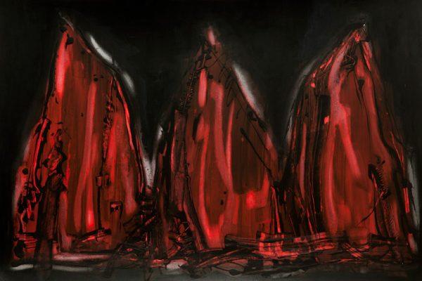 'Kings', L 80 x B 120, Acryl en waterverf, 2012