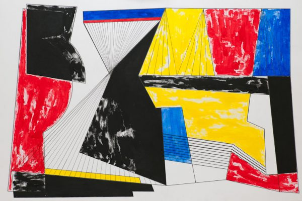 'City', L 80 x B 120, acrylic painting and graphite, 2012