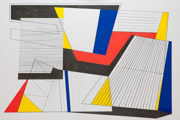 'Landscape', L 80 x B 120, acrylic painting and color pencil, 2012
