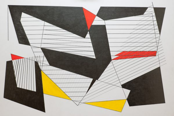'Light and Shadow', L 80 x B 120, acrylic painting and graphite, 2012
