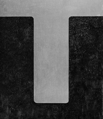 'Lingam', L 80 x B 120, Grafiet en Syberisch krijt, 2011