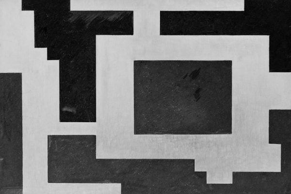 'Harmony', L 80 x B 120, Grafiet en Syberisch krijt, 2011