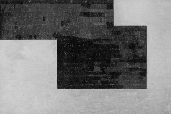 'Image', L 80 x B 120, Grafiet en Syberisch krijt, 2011