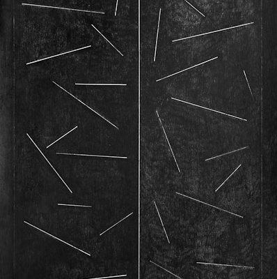 'Realities', L 80 x B 120, Grafiet en Syberisch krijt, 2010