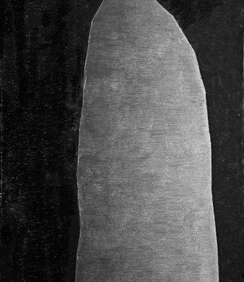 'Darkness', L 80 x B 120, Grafiet en Syberisch krijt, 2009
