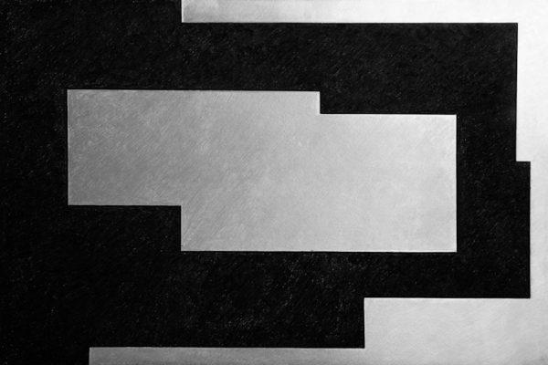 'In & Out', L 80 x B 120, Grafiet en Syberisch krijt, 2010