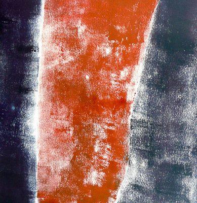 'Staande', L 67,5 x B 49, Monoprint, 2015