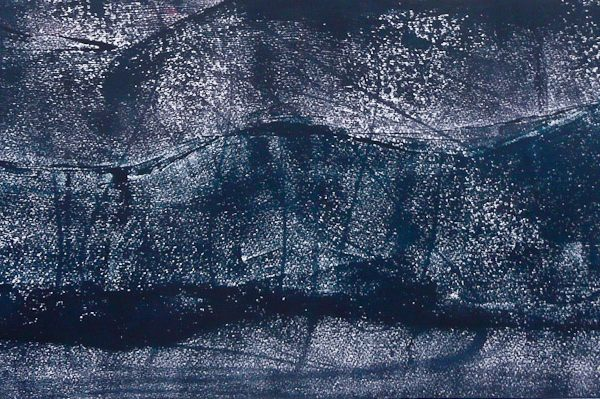 'Liggende', L 60 x B 30, Monoprint, 2015