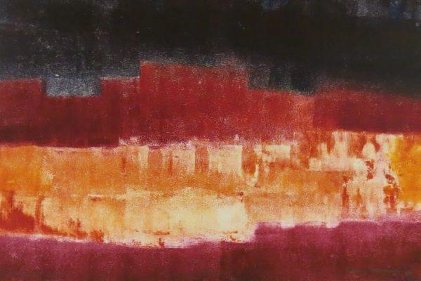 'Verbrand Land I', L 59 x B 39, Monotype, 2015