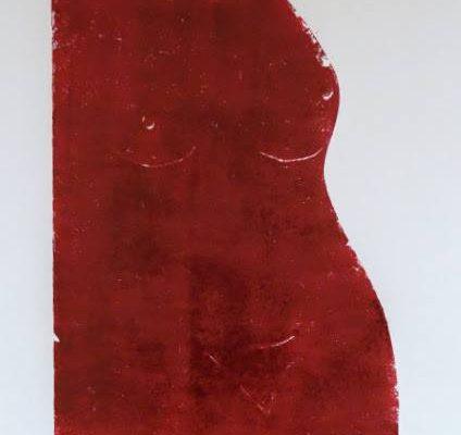 'Zittende Vrouw', L 50 x B 65, Monotype, 2015