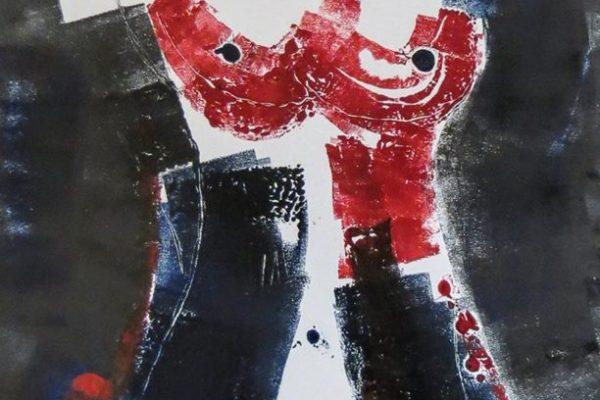'Vrouw III', L 40 x B 60, Monotype, 2016