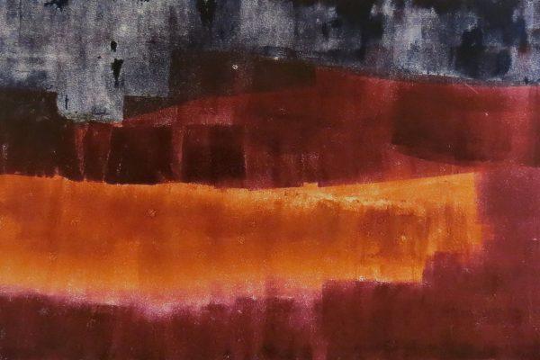 'Verbrand Landschap II', L 50 x B 65, Monotype, 2016