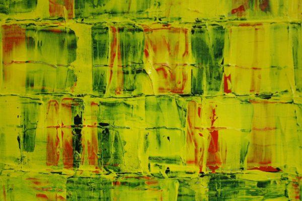 'Compositie V', L 30 x B 30, Acryl op doek, 2016