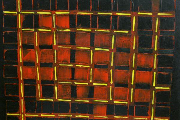 'Evenwicht', L 50 x B 40, Acryl op doek, 2016