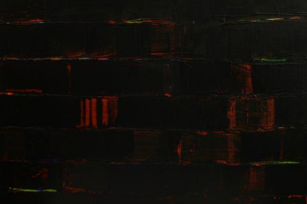 'Undertow', L 50 x B 40, Acryl op doek, 2016