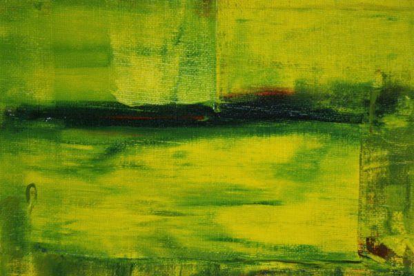 'Landschap', L 20 x B 20, Acryl op doek, 2017