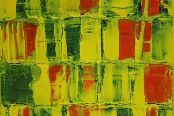 'Compositie VI', L 30 x B 30, Acryl op doek, 2016