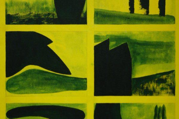 'Landschappen', L 40 x B 50, Acryl op doek, 2016