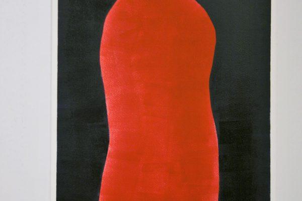 'Rode Vrouw I', L 38 x B 58, Glasdruk, 2015