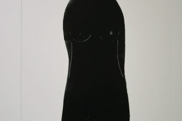 'Zwarte Madonna II', L 56 x B 76, Glasdruk, 2015