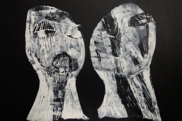 'Paar', L 80 x B 60, Acryl op doek, 2018