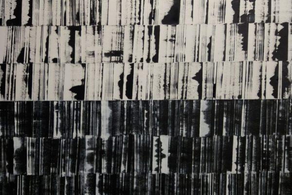 'Wit Op zwart', L 80 x B 100, Acryl op doek, 2018