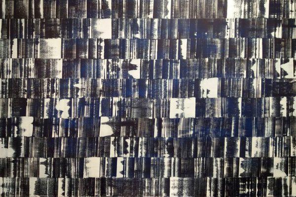 'Verbinding en Chaos', L 150 x B 100, Acryl op doek, 2018