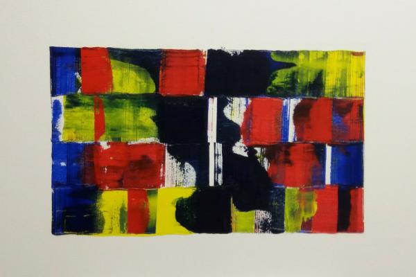 'Living', L 60 x B 40, Acryl op doek, 2018