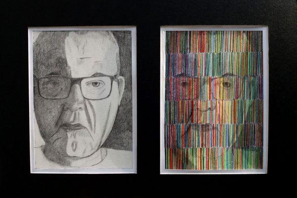 'Zelfportret', 2x Potlood en Kleurpotlood, L 20 X B 30, 2019