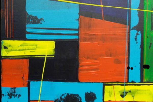 'Orderly Space', B70 x L100, Acryl op doek, 2019