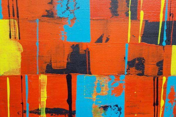 'Red Magic', L50 x B40, Acryl op doek, 2019
