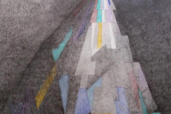 'Hoop', L77 X B57, Grafiet en kleurpotlood, 2020