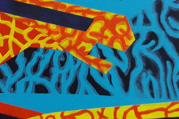 'Love Life', L25 X B25, Acryl op doek, 2020