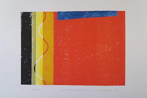 Gedroomde nacht, L70 x B50, Linoleumsnede, 2020