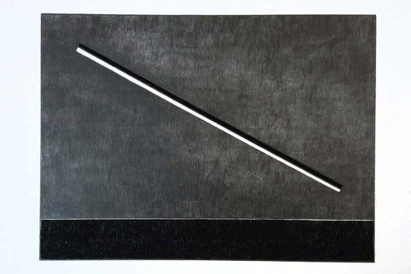 'Presence', L 70 x B 50, Grafiet en Syberisch krijt, 2021