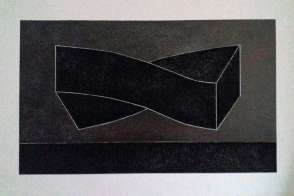 'Es Ist', L 120 x B 80, Grafiet en conté de Paris Noir, 2021