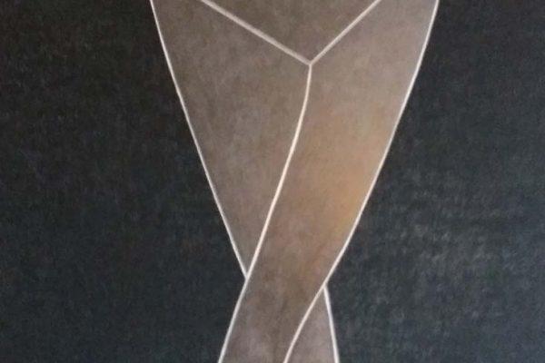 'Archetypical Structure', L 80 x B 120, Grafiet en conté de Paris noir, 2021